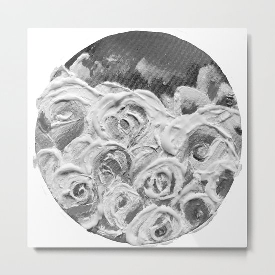 Roses on Fire In the Evening Rainbow Metal Print