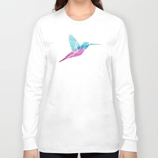 Watercolor Hummingbird Long Sleeve T-shirt