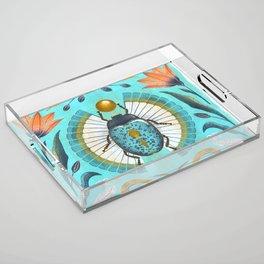 Egyptian Scarab Acrylic Tray