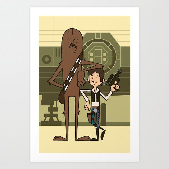 EP4 : Han & Chewie Art Print