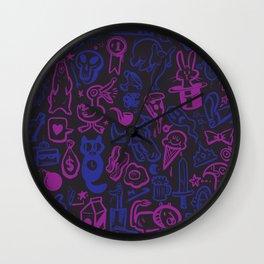 Blue and Purple Stuff Wall Clock