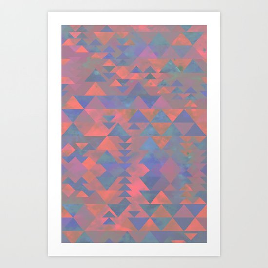 Delta Tribe - Pink Art Print