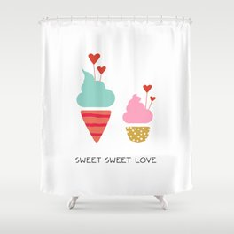 Ice Cream lovers Shower Curtain