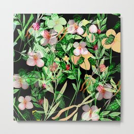 Garden Frenzy Night Metal Print