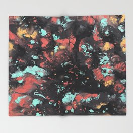 Cosmic Graffiti Throw Blanket