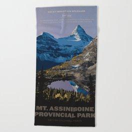 Mt. Assiniboine Provincial Park Beach Towel