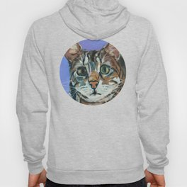 Green Eyed Cat Portrait Hoody