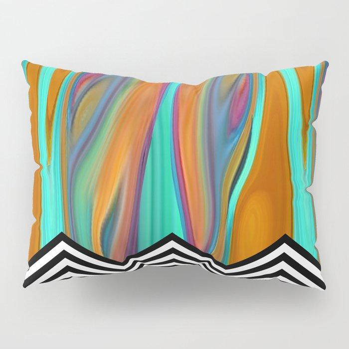 CHEVRON FLAME | aqua orange Pillow Sham