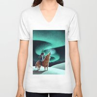 howl V-neck T-shirts featuring Howl by slewisillustration