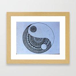 Yin-Yang Mandala Framed Art Print
