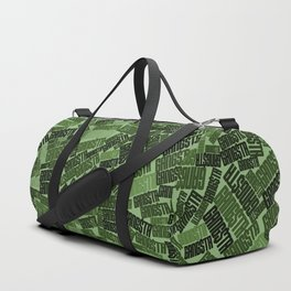 GANGSTA jungle camo / Green camouflage pattern with GANGSTA slogan Duffle Bag
