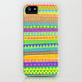 Happy colors inka pattern iPhone Case