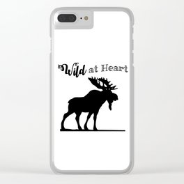 Wild at Heart-Moose Clear iPhone Case