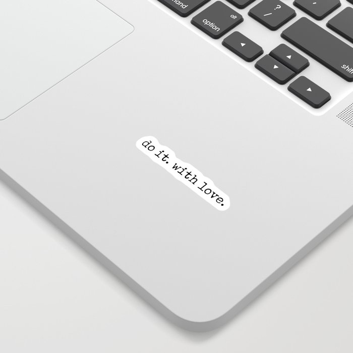 Do i. With Love. Typewriter Style Sticker