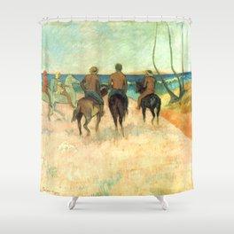 "Paul Gauguin ""Cavaliers Sur La Plage (II)"" Shower Curtain"