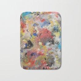 Strange Colour Pallet - Mixed Media on Canvas Board Bath Mat