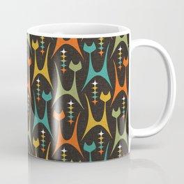 Mid Mod Meow on DK Brown ©studioxtine Coffee Mug