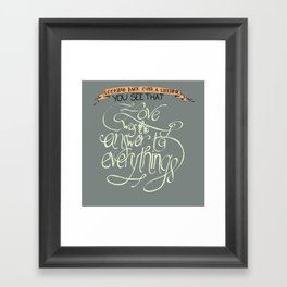 Love is the Answer Framed Art Print
