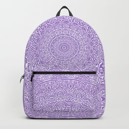 The Most Detailed Intricate Mandala (Violet Purple) Maze Zentangle Hand Drawn Popular Trending Backpack