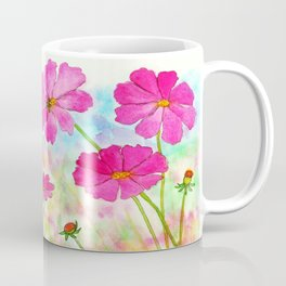 Symphony In Pink, Watercolor Wildflowers Coffee Mug