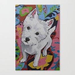 Pop Art Westie Named Poppy Canvas Print