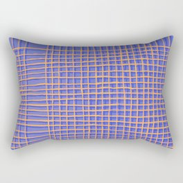 Left - Blue and Orange Rectangular Pillow