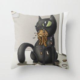 Beebee Versus the Jellyfish Throw Pillow