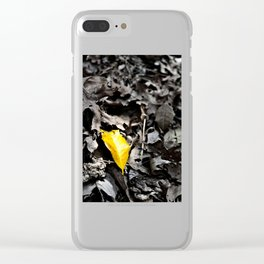 Yellow Loneliness Clear iPhone Case