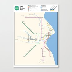 Milwaukee Transit System Map Canvas Print