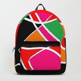 Multicolor black Backpack
