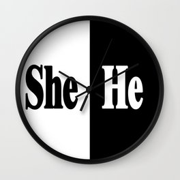She vs He Wall Clock