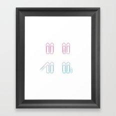 Paper Clip Love Framed Art Print