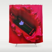 jewish Shower Curtains featuring A jug of wine and thou  by Brown Eyed Lady