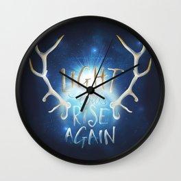 Light Will Rise Again Wall Clock