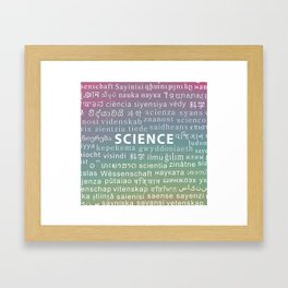 Languages I: Science Framed Art Print