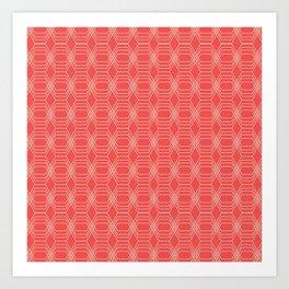 hopscotch-hex sherbet Art Print
