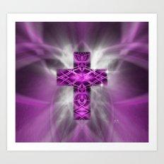 Purple Cross Art Print