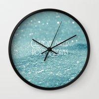 custom Wall Clocks featuring Custom Dreams by Alice Gosling