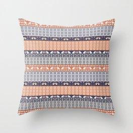 Fair Isle Christmas Guinea pig Pattern Throw Pillow