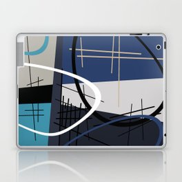 Blue Mid Century Laptop & iPad Skin
