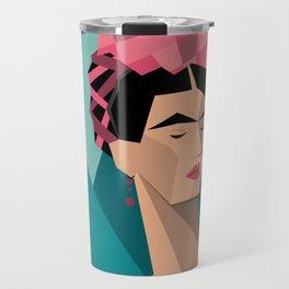 Frida Kahlo Cubism Travel Mug