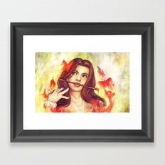 Butterfly Shout Framed Art Print