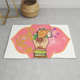 Lovely Cuppa Cha - Cup of Chai Rug