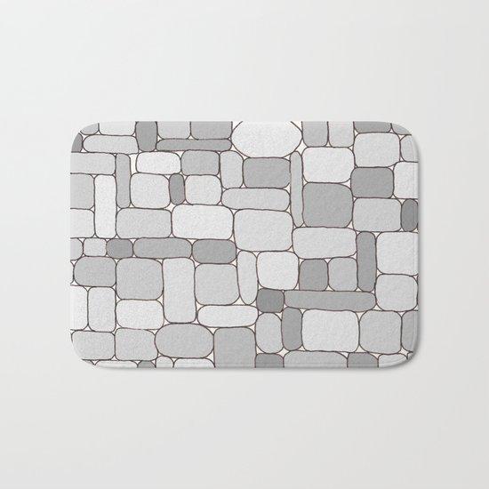 Stone Wall #4 - Grays Bath Mat