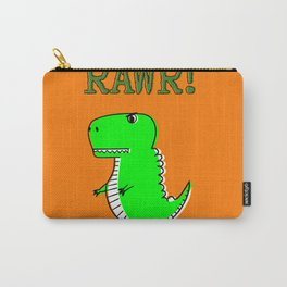 Cute And Angry Cartoon T-Rex Carry-All Pouch
