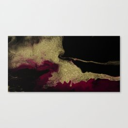Black Honey - resin abstract painting Canvas Print