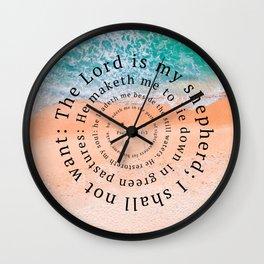 Psalms 23 Wall Clock