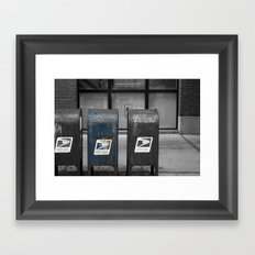 chicago mailboxes Framed Art Print