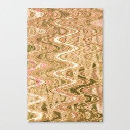 Waves Brass Canvas Print