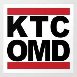 KTC OMD (for light colored shirts) Art Print
